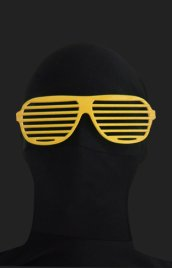 Yellow Shutter Shades Zentai Suit Sunglasses